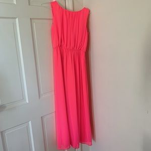 Gianni Bini long neon pink formal dress